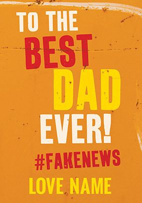 Fake News Personalised Father's Day Card