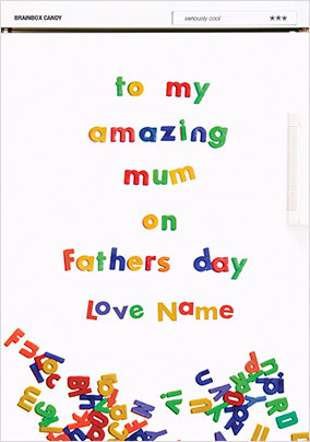 Amazing Mum on Father's Day personalised Card