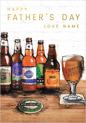 Father's Day Beers Personalised Card