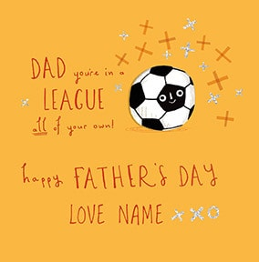 League Of Your Own Personalised Father's Day Card