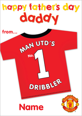 12e8d167 More like this... Manchester United - No1 Dribbler. man united father's day  card ...
