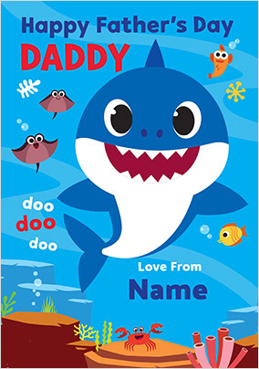 Baby Shark Father's Day Cards | Funky Pigeon