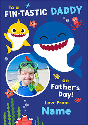 Baby Shark Photo Father's Day Card
