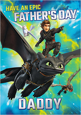 How To Train Your Dragon Father's Day Card