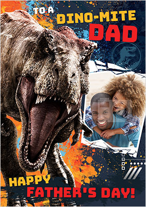 Dino-Mite Dad Photo Father's Day Card