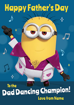 Despicable Me - Dad Dancing Champion Personalised Card