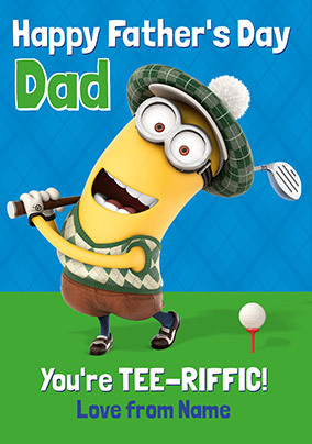 Despicable Me - You're Tee-riffic Personalised Card
