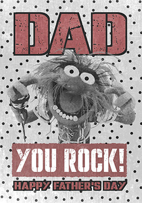 The Muppets Animal Father's Day Card