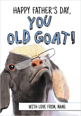 You Old Goat Personalised Father's Day Card