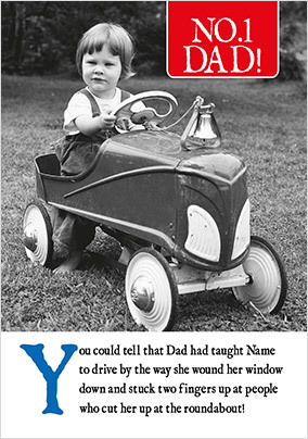 Taught To Drive Personalised Father's Day Card