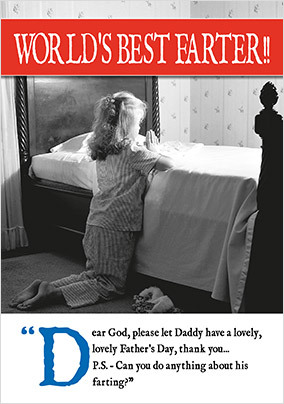 d6aa2107d Worlds Best Farter Personalised Fathers Day Card. NO. preview image is not  found