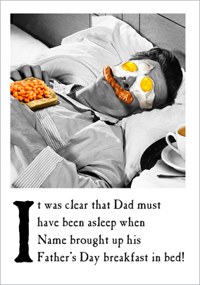 Emotional Rescue - Father's Day card Breakfast in bed