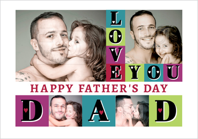 Essentials - Father's Day card Multi Photo Upload Love You Dad