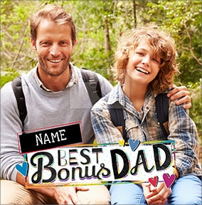 Bonus Dad Father's Day Photo Card