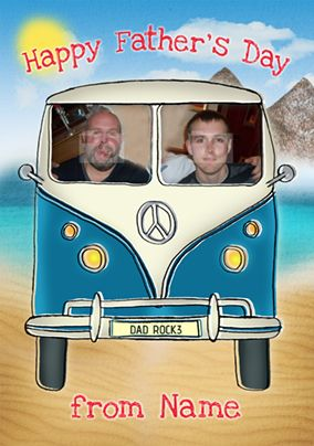Driver's Seat - Father's Day card Photo Upload Camper Van