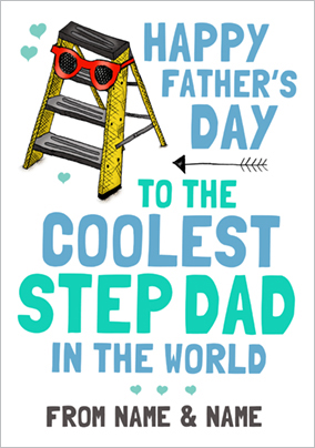 Look Who's Drawing - Father's Day card Coolest Step-Dad