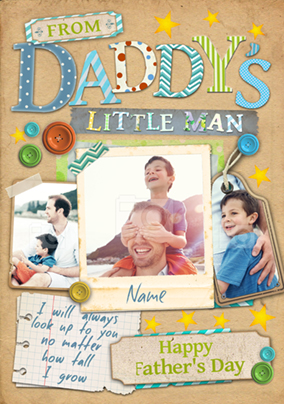 Paper Moon - Father's Day card From your Little Man