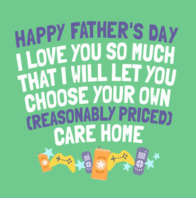 Care Home Father's Day Card