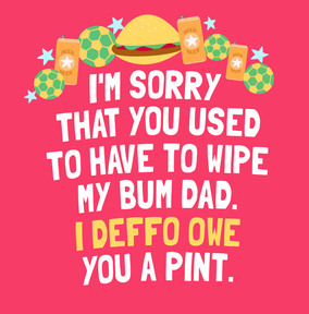 I Owe You A Pint Father's Day Card