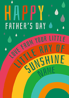 Daddy - Ray Of Sunshine Personalised Card
