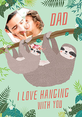 Hanging With Dad Girl's Photo Card
