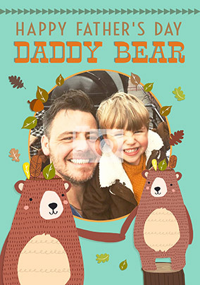 Daddy Bear From Son Photo Card