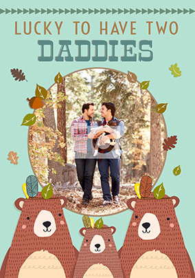 Two Daddies Father's Day Photo Card