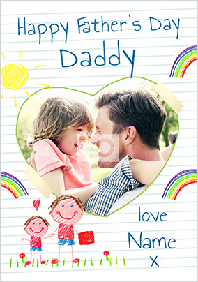 Daddy From Son Photo Card