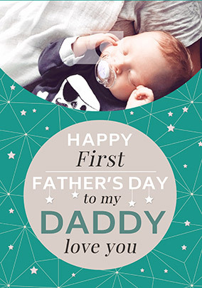 DADDY First Father's Day Photo Card