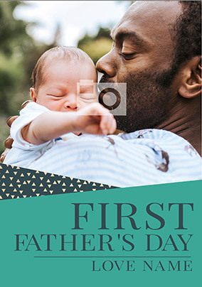 First Father's Day Photo Card