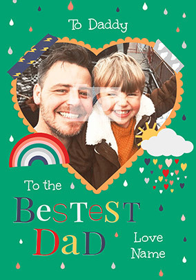 Bestest Dad Photo Father's Day Card