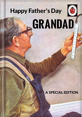 Father's Day Grandad Ladybird Book Card