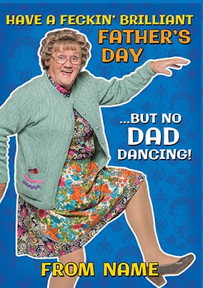 Dad Dancing Mrs Brown's Boys Father's Day Card