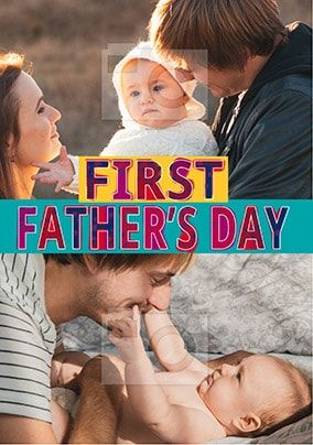 First Father's Day Multi Photo Card