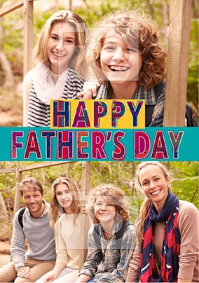 Happy Father's Day Multi Photo Card