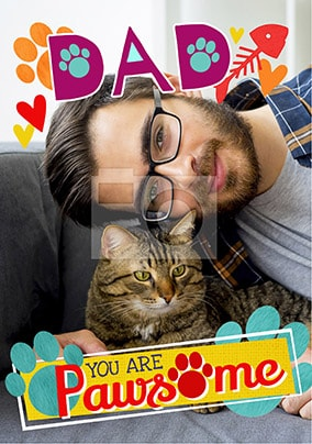 Cat Dad Photo Father's Day Card