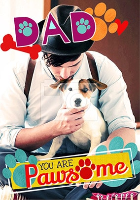 Dog Dad Photo Father's Day Card