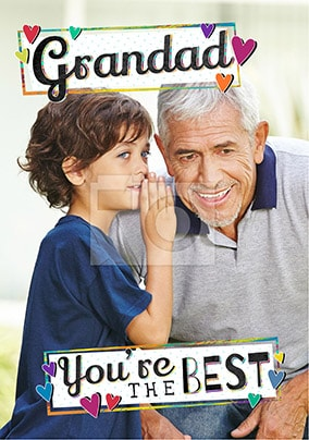Grandad You're The Best Photo Father's Day Card