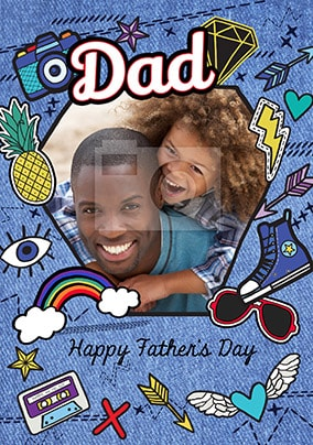 Dad Happy Father's Day Photo Card