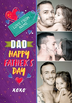 Dad Happy Father's Day Multi Photo Card