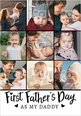 First Father's Day As My Daddy Multi Photo Card