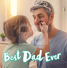 Best Dad Ever Square Photo Card