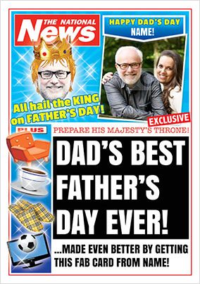 Father's Day National News Photo Card