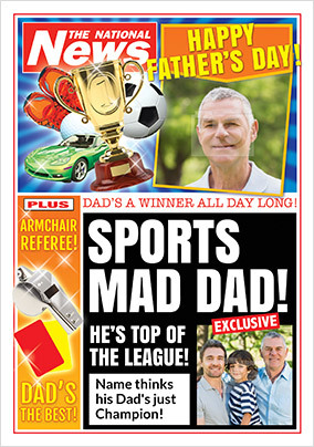 Sports Mad Dad National News Photo Card