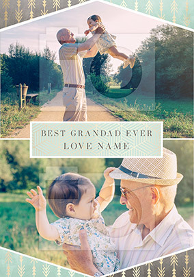 Best Grandad Ever Photo Upload Card