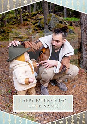 Happy Father's Day Personalised Photo Card