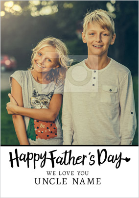 Happy Father's Day Uncle Photo Upload Card