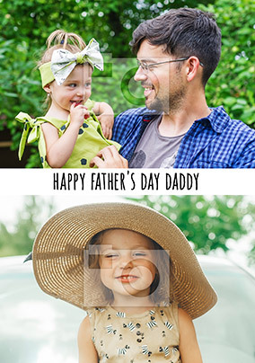 Happy Father's Day Daddy Multi Photo Card