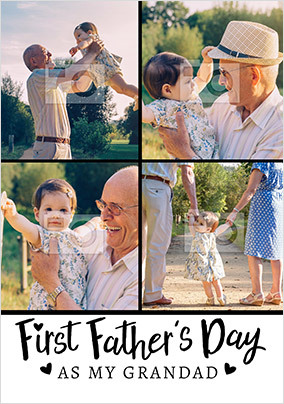 First Father's Day as my Grandad Multi Photo Card