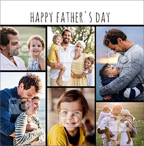 Happy Father's Day Square Photo Card